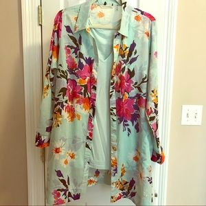Summertime tunic with v neck Shell